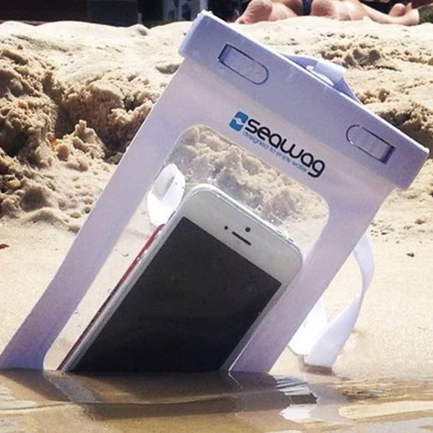best waterproof cell phone case, Seawag, smart phone waterproof case, beach travel gear, beach vacation essentials, beach travel