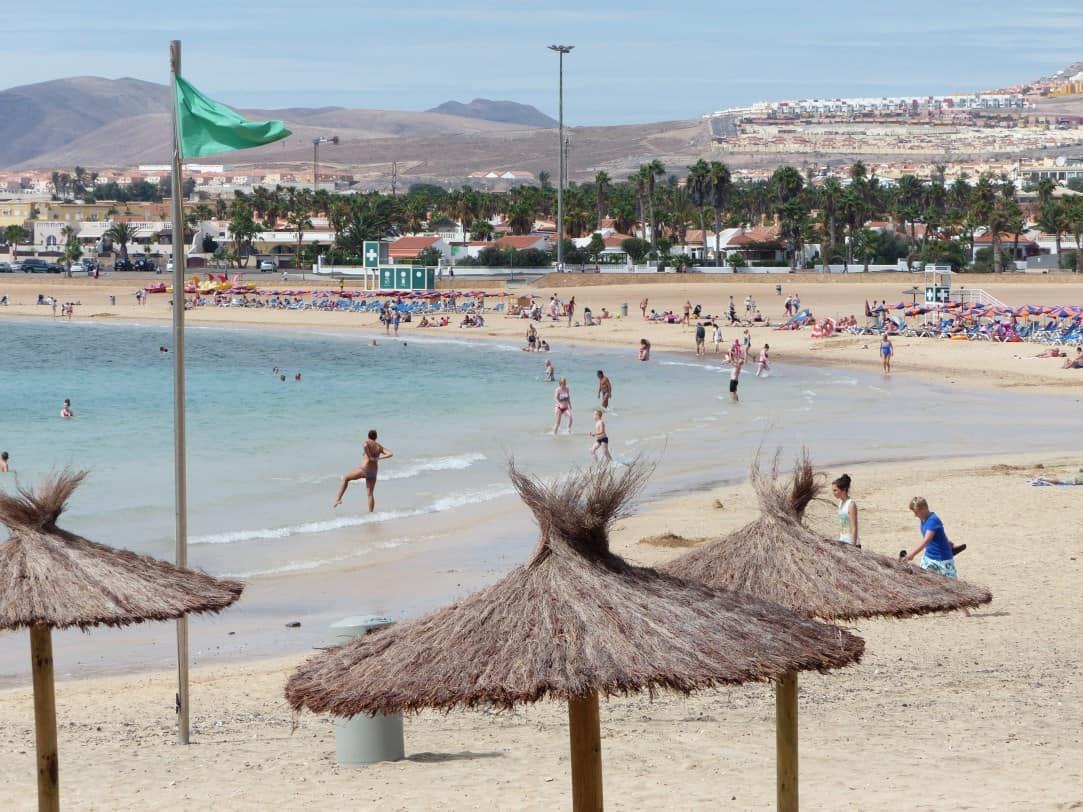 Calete de Fuste Beache, Caleta de Fuste, Fuerteventura Canary Islands, Fuerteventura beaches, Barceló Castillo Beach Resort.