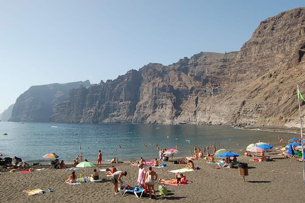 Los Gigantes Beach, Los Cristianos, Canary Islands, best beaches of the Canary Islands