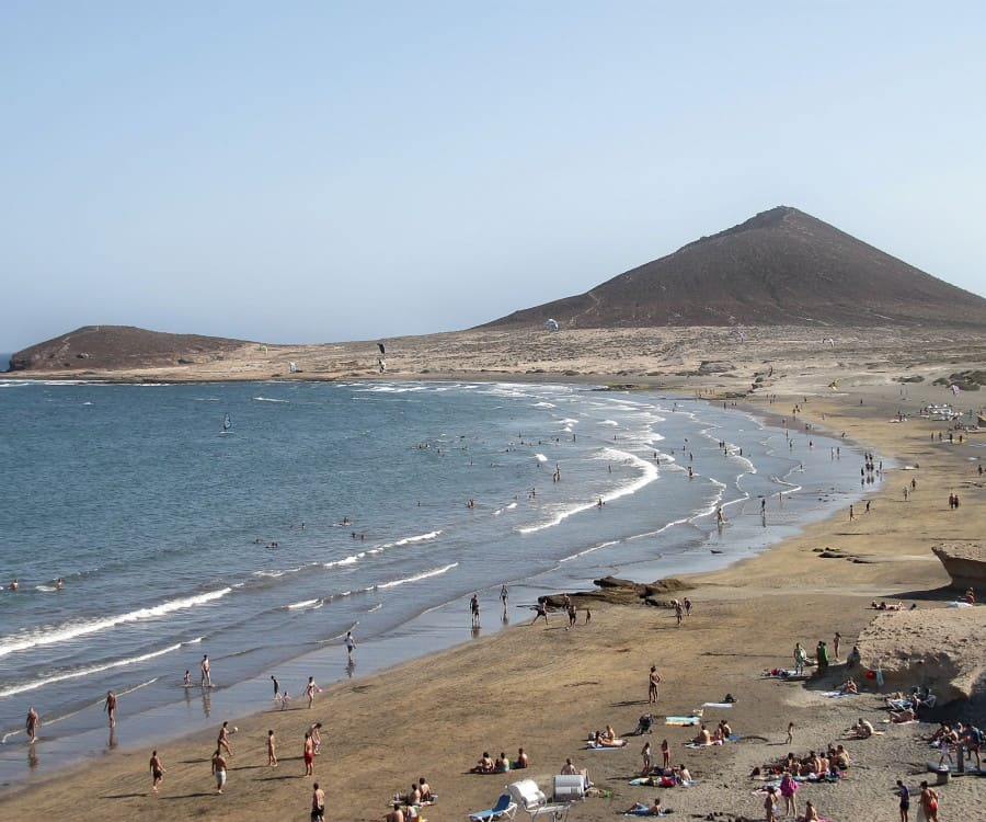 Playa El Médano, Los Cristianos , Canary Islands, best beaches of Canary Islands