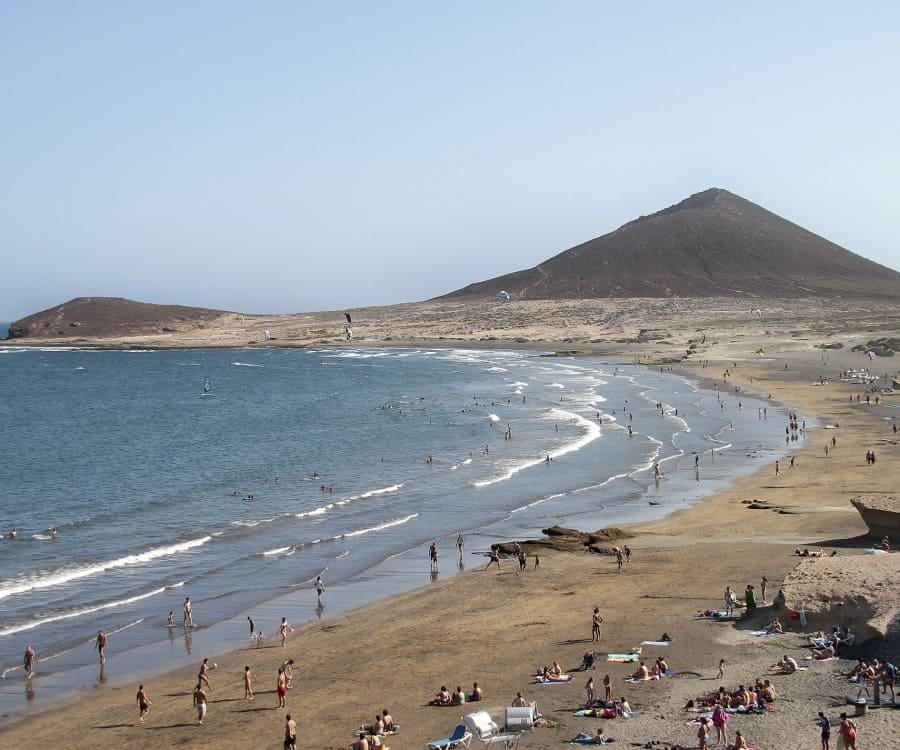 Playa El Médano, Los Cristianos , Canary Islands, best beaches of Canary Islands