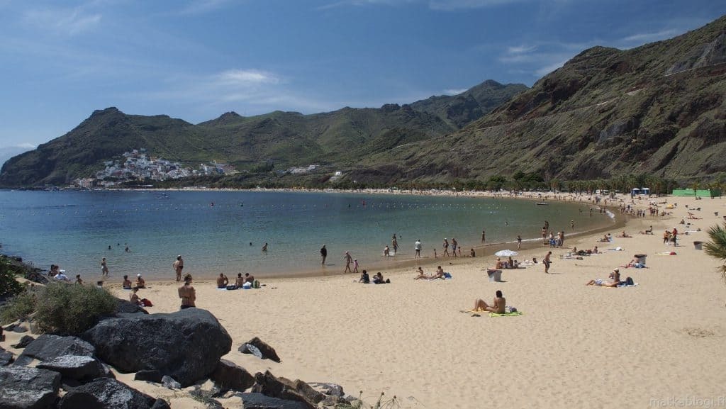 Playa de Las Teresitas, Los Cristianos , Canary Islands, best beaches of the Canary Islands