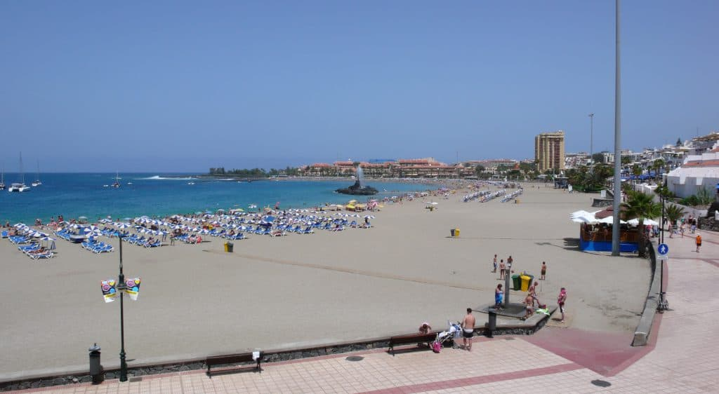 Playa de Las Vistas, Los Cristianos, Canary Islands, best beaches of the Canary Islands
