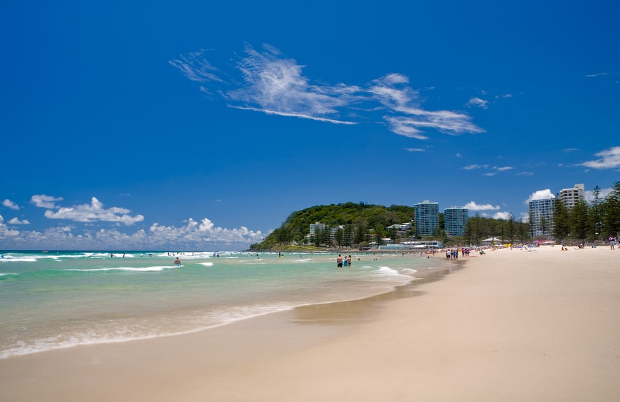 Burleigh Heads Beach, Gold Coast Australia