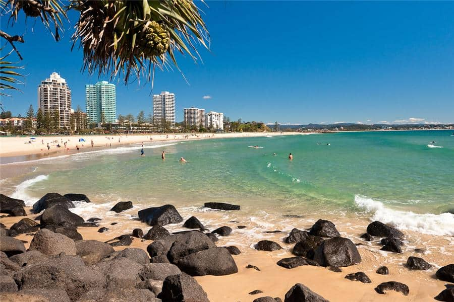 Coolangatta Beach, Gold Coast Australia