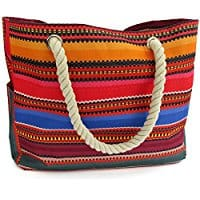 best beach bag, beach travel destinations, beach bag, best beaches, beach gear, Odyseaco Baja Beach Bag Waterproof Cavas Tote, Large
