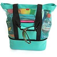 best beach bag, beach travel destinations, beach bag, best beaches, beach gear, Aruba Mesh Beach Tote Bag