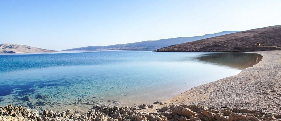 Beach Rucica, Metajna (Pag Dalmatia), Croatia, Croatia beaches, best beaches of Europe, beaches of Europe, Croatia Beach holidays, beach travel destinations,