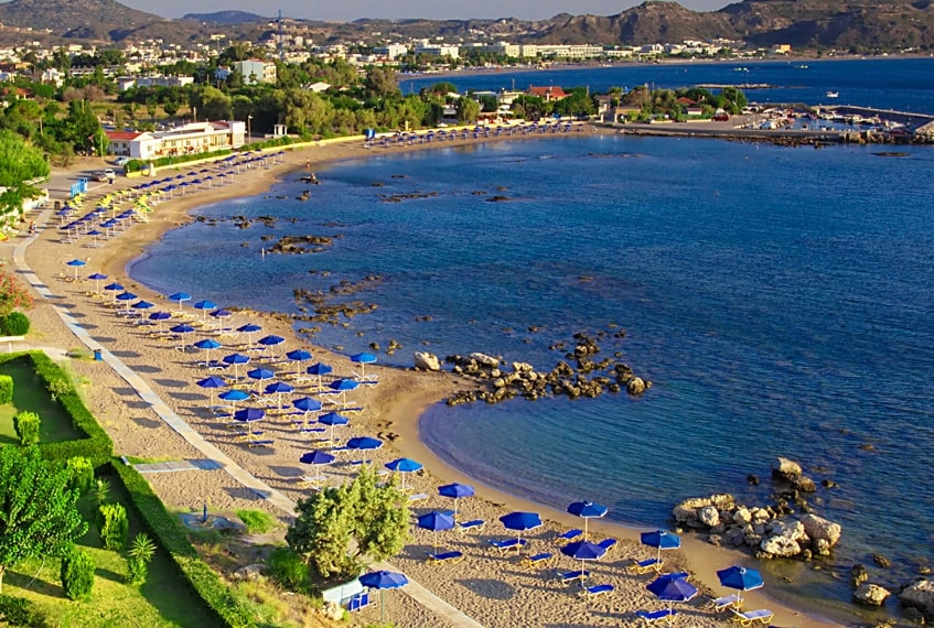 Faliraki Beach, Rhodes, Greece, best beaches of Greece, best beaches in Greece, Greece beaches, beach travel destinations
