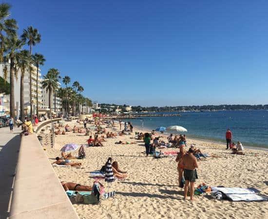 Juan des Pins Main Beach, France