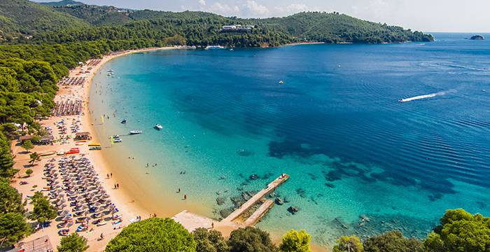 Koukounaries Beach, Skiathos, Greece, best beaches of Greece, best beaches in Greece, Greece beaches, beach travel destinations