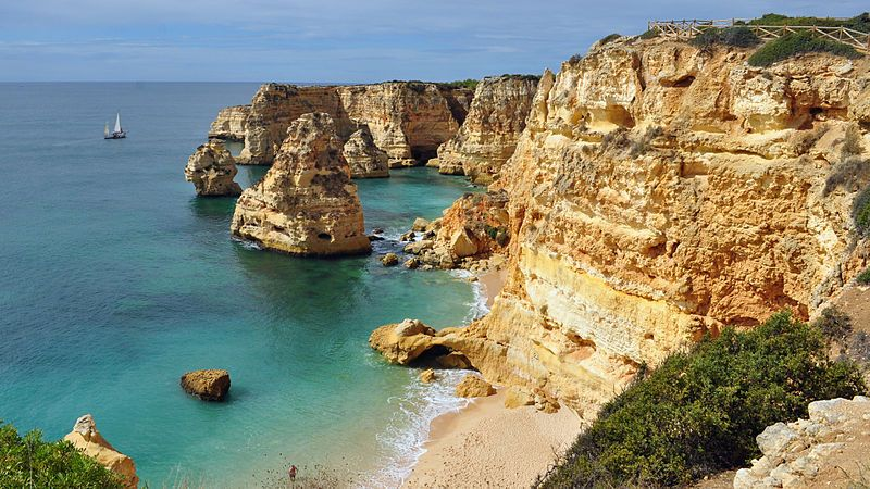 Marinha Beach, Portugal, best beaches of Portugal, Portugal beaches, best Portugal beaches, beach travel destinations, beach vacation