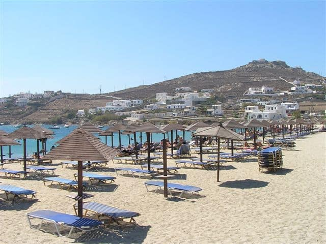 Ornos Beach, Mykonos, Greece, best beaches of Greece, best beaches in Greece, Greece beaches, beach travel destinations