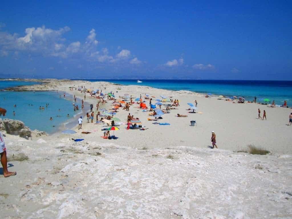 Platja de Ses Illets Formentera, Formentera beaches, Balearic Island beaches, best beaches of the Balearic Islands.