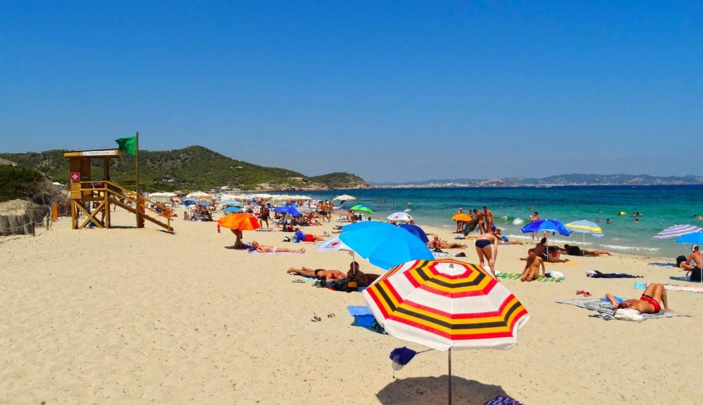 Platja de Ses Salinas Formentera, Formentera beaches, Balearic Island beaches, best beaches of the Balearic Islands.