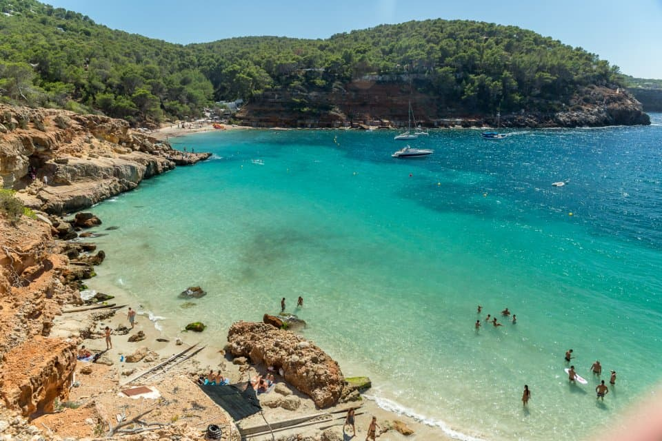 Cala Salada Beach, Playa Cala Salada, Ibiza, Spain, Spain Beaches, best Spain Beaches, beach travel destinations, beach travel, beach vacations,