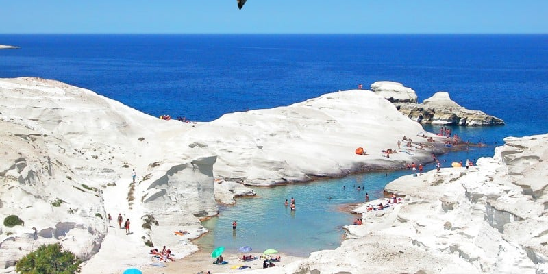 Sarakiniko, Mylos, Greece, best beaches of Greece, best beaches in Greece, Greece beaches, beach travel destinations