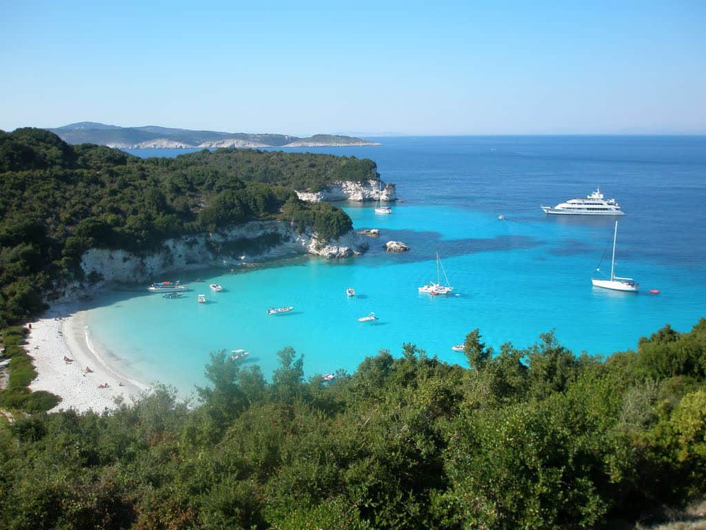 Voutoumi Beach, Antipaxi, Ionian Islands, best beaches of the Ionian Islands, best Caribbean beaches