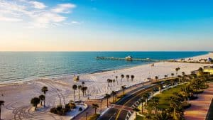 This image has an empty alt attribute; its file name is Clearwater-Beach-300x169.jpg