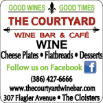 The Courtyard Wine Bar & Cafe, New Smyrna Beach, Florida, New Smyrna Beach Vacations, Florida Beaches, New Smyrna Beach beaches