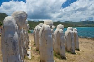Anse Cafard Slave Memorial, Martinique, Things to do in Martinique, Windward Islands, Lesser Antilles, Martinique Travel Guide, Martinique beaches, best beaches of the Caribbean