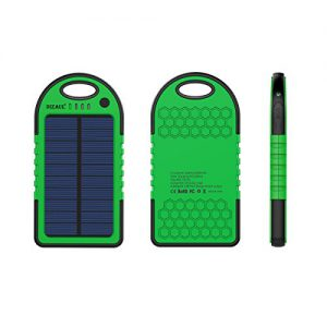 Dizaul 5000mAh Portable Solar Power Bank Solar Smartphone Charger, best gifts for the frequent traveler, gifts for the frequent traveler, holiday gift ideas for the frequent traveler, traveler gift ideas.