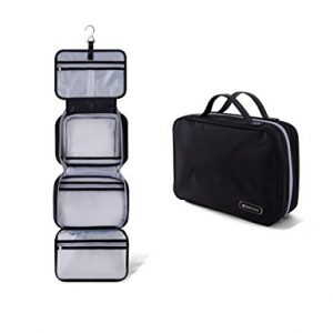 Premium Hanging Toiletry Bag Travel Kit for Men and Women, travel hanging toiletry bag, best gifts for the frequent traveler, gifts for the frequent traveler, holiday gift ideas for the frequent traveler, traveler gift ideas.