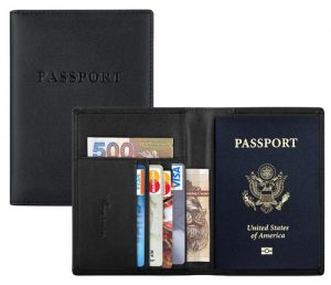 Travelambo RFID Blocking Genuine Leather Passport Holder, passport wallet, best gifts for the frequent traveler, gifts for the frequent traveler, holiday gift ideas for the frequent traveler, traveler gift ideas.