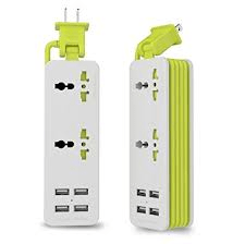 UPWADE Outlet Travel Power Strip Surge Protector with 4 Smart USB Charging Ports, travel power strip, travel usb power strip, best gifts for the frequent traveler, gifts for the frequent traveler, holiday gift ideas for the frequent traveler, traveler gift ideas.