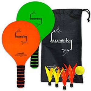Jazzminton Paddle Ball Game With Carry Bag, Beach Paddle Ball, Water Sports Gear, Fun Beach Games, Things to do at the beach, best games for the beach, games to play at the beach