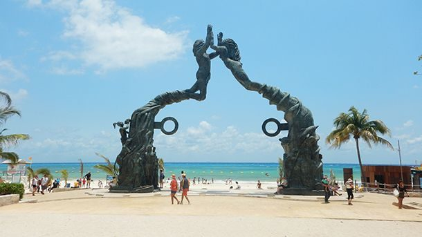 Parque Fundadores, Playa del Carmen Mexico, Yukatan Peninsula beaches, best Yukatan Peninsula beaches