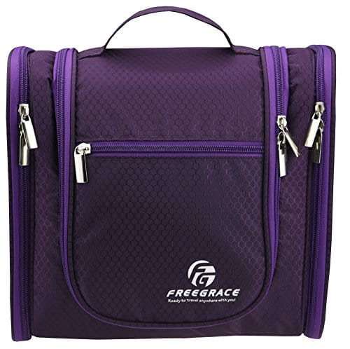 Hanging Toiletry Bag By Freegrace, cruise travel essentials, all about cruises, best cruise deals, best priced cruises, cruise vacation, last minute cruises.