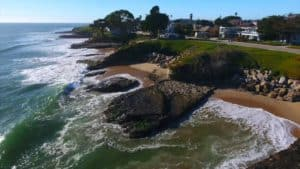 West Cliff Drive, Capitola, a seaside community on the north shore of Monterey Bay, claims to be California's oldest beach resort.