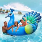 iBase Toy Giant Inflatable Peacock Float, floatables for the beach, best floatables, best floaties