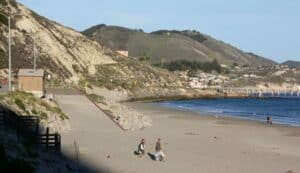 Olde Port Beach, just off Highway 1 on California's central coast is a road that takes you through a lush oak valley lined with transformative spas featuring natural, mineral hot springs, world-class massage, yoga instruction, and sense therapies.