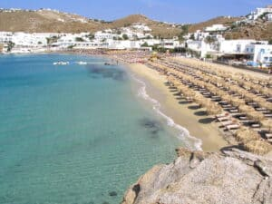 Platys Gialos Beach, Mykonos Greece, the Cyclade Islands, best Mykonos beaches, best Mykonos hotels, best Mykonos restaurants, best Mykonos bars, things to do in Mykonos, recommended Mykonos tours & activities