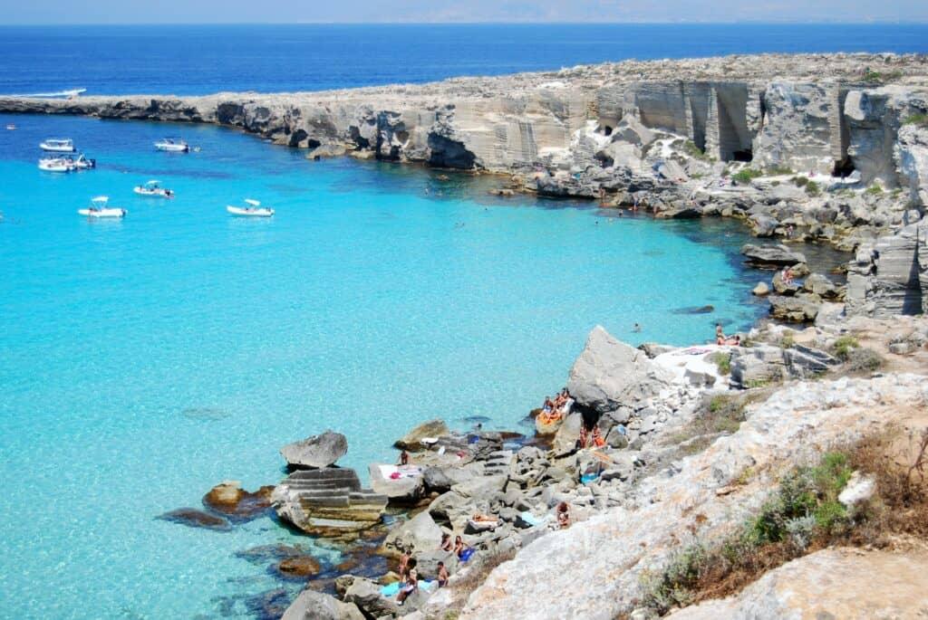 Cala Rossa, Isola di Favignana, Aegadian Islands, Islands of Sicily, best beaches of Italy