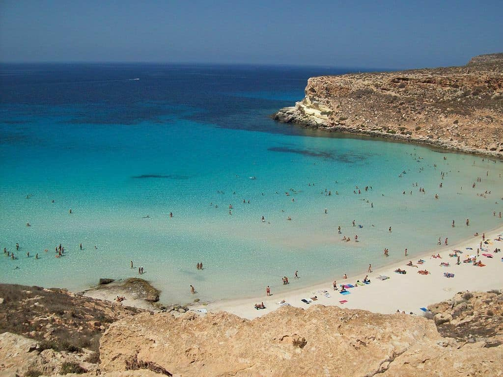 Spiaggia dei Conigli, Lampedusa, Islands of Sicily, best beaches of Italy